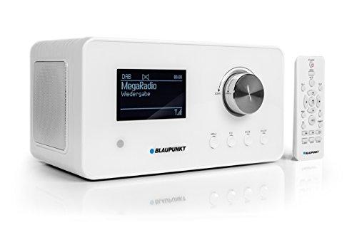 Blaupunkt IRD 300 Wlan, DAB+, Bluetooth, FM-ontvangst, keuken of kantoor, wekker en radio, kleurenscherm met app-functie, miniradio, incl. afstandsbediening Internetradio, DAB+. wit
