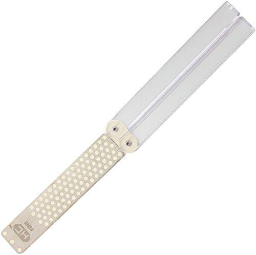 DMT Pierre à aiguiser double-face Diafold®, à revêtement Hardcoat™ fin/extra fin, spéciale pour les couteaux céramiques, FWMEF-H