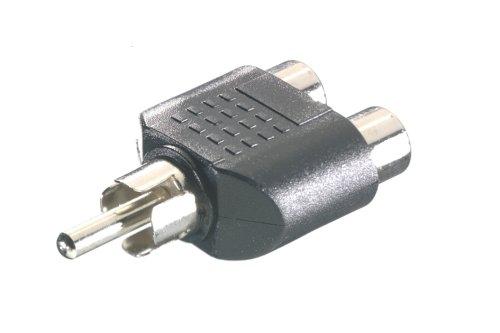 Vivanco Y adapter RCA / 2 x RCA - Adaptador para cable (RCA, RCA, Macho/hembra, Negro, Metal, De...