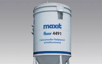 maxit floor 4491 turbo (weber.floor 4491) - Calciumsulfat-Fließestrich - CAF-C30-F5, schnelltrocknend, 25kg