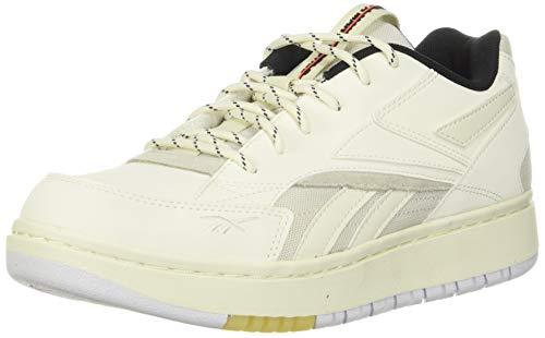 Reebok Women's Court Double Mix Sneaker, Chalk/Classic White/Black, 10 M US