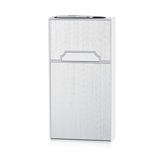 Caja Delgada de la Caja de Cigarrillos de la Mujer de la aleación de Aluminio con el Encendedor USB Enciende el Encendedor de Cigarrillos 115mm * 60mm * 21mm, 1