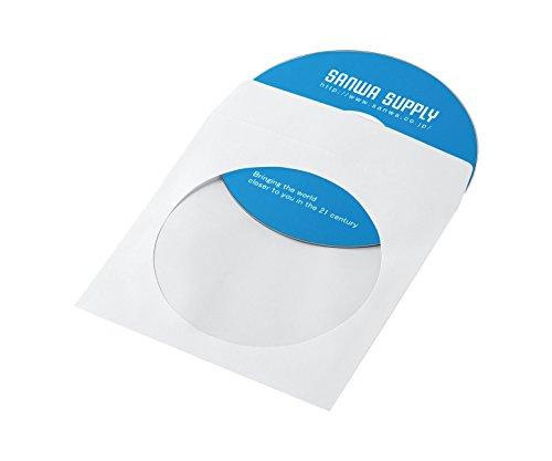 サンワサプライ DVD・CDペーパースリーブケース 1枚収納 ホワイト 100枚入り FCD-PS100WN