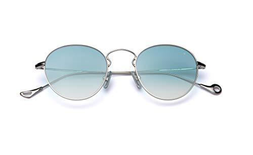 Eyepetizer Occhiali da sole Unisex modello Julien colore asta argento e lente verde acqua sfumata