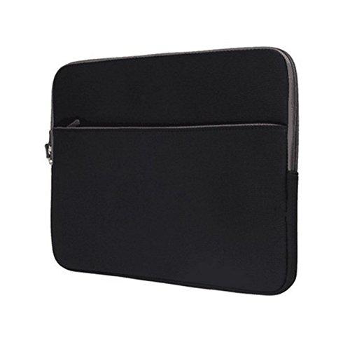 Black Zippered Neoprene Carrying Sleeve Case Pouch for Dell Chromebook 3189 / HP Chromebook x360 11 G1 / Acer Chromebook Spin 11 / Lenovo 500e / Lenovo Flex 6 11 / IdeaPad 120S 11 in Laptop