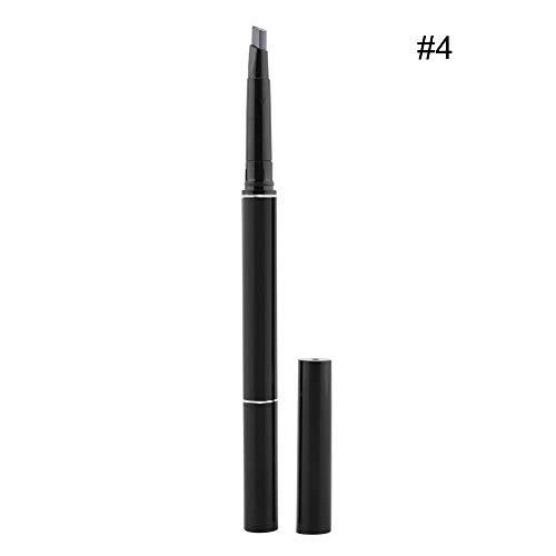 Crayon à sourcils, Crayon à sourcils durable à double tête étanche aux taches avec brosse à sourcils, vous aide à créer une jolie couleur de sourcils(#4)