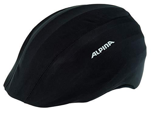 Alpina Unisex– Erwachsene Radhelm Multi-Fit-Raincover Fahrradhelmzubehör, schwarz, S-M