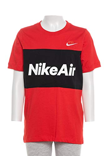 Nike Unisex Kinder NSW Air Ss T-Shirt, University Red/Black, M