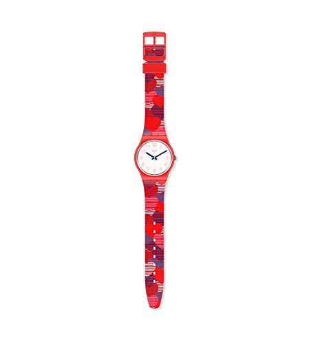 Swatch Damen Analog Quarz Uhr mit Silicone Armband GR182