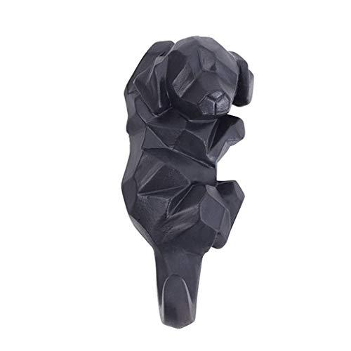 ZHICHUAN Escudo Montado en la Pared Perchero Estante de Estilo Europeo Simple Decoración Animal Creativo Hook Gancho para Colgar de la Pared Wall Clave Perchero M fuerte y resistent
