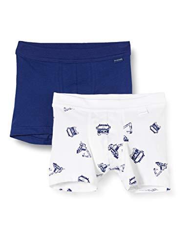 Schiesser Jungen Multipack Boys World 2Pack Shorts Boxershorts, Mehrfarbig (Sortiert 1 901), (Herstellergröße:104) (2er Pack)