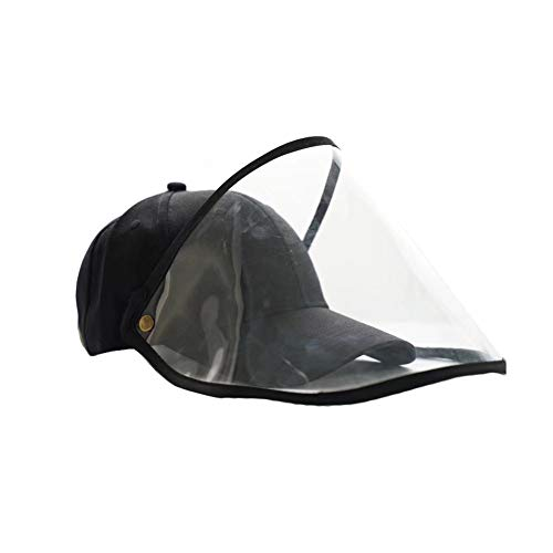 CRXL shop-Mantas Eléctricas Gorra De Béisbol Unisex Anti-Saliva Protector De Cara con Extraíble Careta, For Protección Facial Al Aire Libre Sombrero De Sol Viseras, Anti-Humo, Polvo