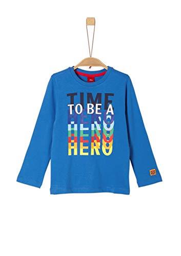 s.Oliver Jungen 63.909.31.8933 T-Shirt, Blau (Blue 5545), 116 (Herstellergröße: 116/122/REG)