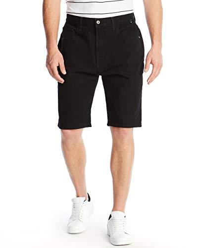Nautica Men's Relaxed Fit 5 Pocket 100% Cotton Denim Jean Short, Space Black Wash, 36W