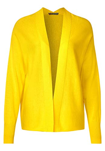 Street One Damen 253028 Strickjacke, Shiny Yellow, 40