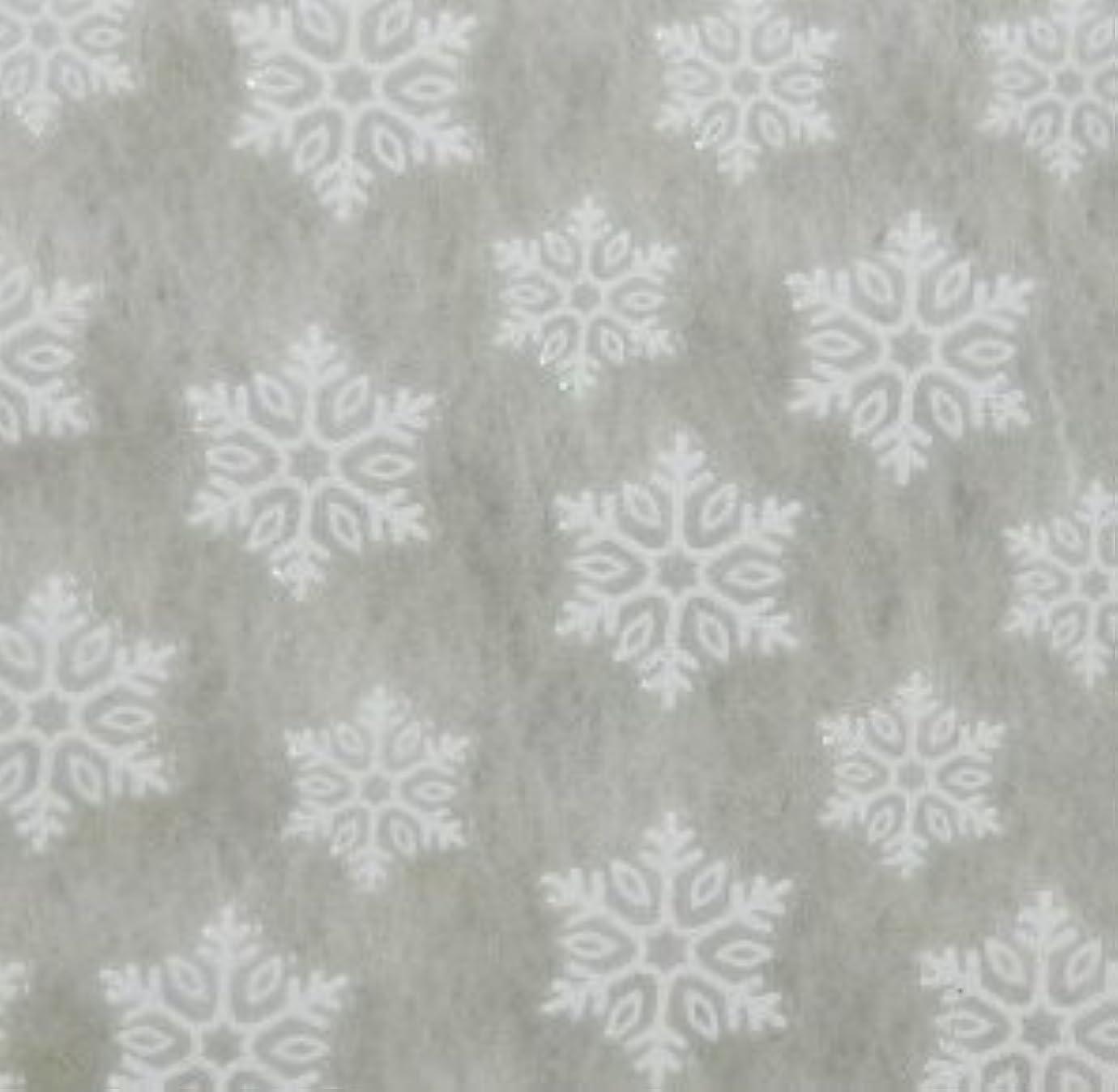 提案する死にかけている品雪の結晶(2)【ラバー素材3Dネイルアートシール】《ホワイト》1シート 47枚入