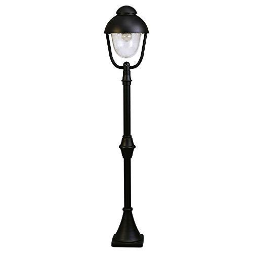 Albert 662029 Socket lampe, Aluminium Noir, E27, 17,5 x 135 cm
