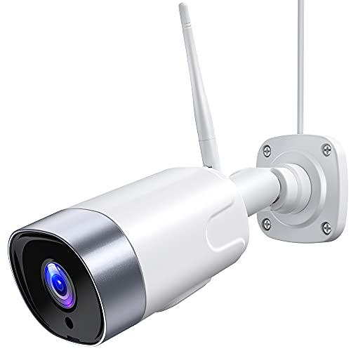 Überwachungskamera Aussen,WLAN Kamera Outdoor 1080P IP Kamera WiFi mit IP66 wasserdichte,Nachtsicht,Zwei Wege Audio,Bewegungserkennung,Support Alexa/ONVIF/RTSP