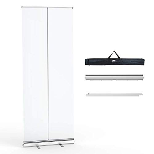 Floor Standing Sneeze Guard,Portable Roll up Banner Free Standing Isolation Barrier with Clear Film Protective Shield for Office Salons Clinics,Stores Restaurants (80' 32')