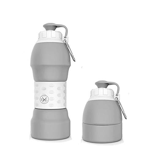 Bennlife Water Bottle Best Outdoor Sports Travel Accessories 19.6oz(580ML) Food Grade Silicone Material.