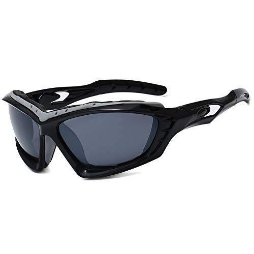 JFSZZ Lentes Montar Bicicleta de Carreras de Ciclismo Gafas de Sol Hombres Mujeres Deportes de montaña Bicicleta de Carretera al Aire Libre de los vidrios Gafas de MTB (Color : Black Gray)