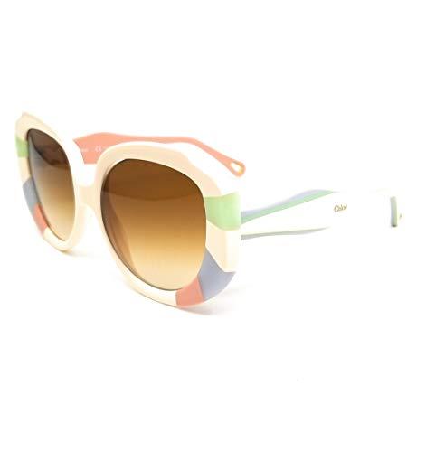 Chloe CE744S Acetate Sonnenbrille Pastel Rainbow Unisex Erwachsene, Mehrfarbig, Standard