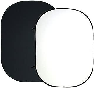 ePhotoInc 5' x 7' Twist Flex ChromaKey Background Black White Collapsible Reflector Photo Backdrop Background T57BW