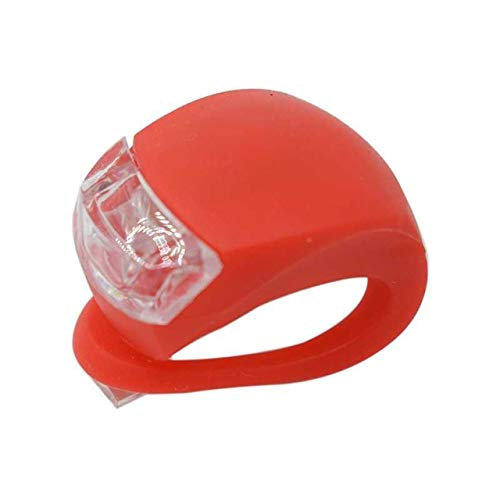 FSHB Mini Cycling Sicherheitswarnung Fahrradlampe Fahrrad Frontlicht Silikon LED Kopf Vorderrad Hinterrad Fahrradlicht Wasserdicht, Rot