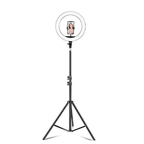 wenjinghua WJH 14 Pulgadas Teléfono Clip Regulable Temperatura de Color Anillo de LED de luz de Relleno Live Set Broadcast con 2,1 m Montaje de trípode, CN Plug