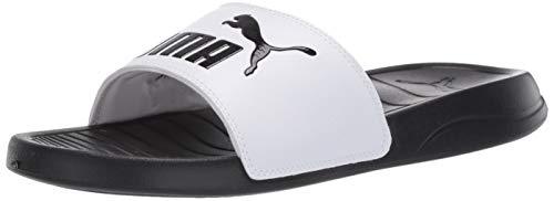PUMA Popcat Slide Sandal, Black White, 7 M US