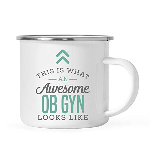 Andaz Press 11oz. Stainless Steel Campfire Coffee Mug Gift, This is What an Awesome OB GYN Looks Like, 1-Pack, Birthday Gift Ideas Coworker Him Her, Includes Gift Box