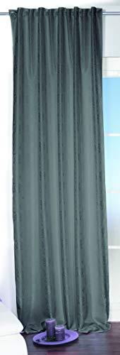 Betz Rideau Jacquard Taille 140x245 cm Couleur Anthracite