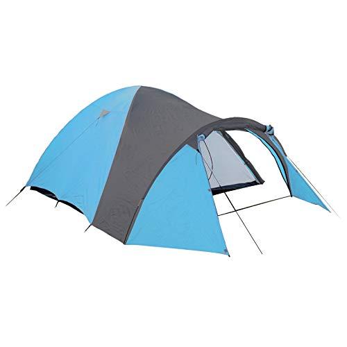 Tente Igloo 4 Personnes Tente Camping avec Auvent 450x240x180 cm Colonne d'eau 3000 mm Thermoactif