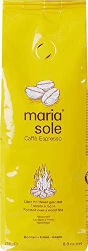 MariaSole Caffè Espresso Ganze Kaffeebohnen aus Italien 250g Premium Espressobohnen über Holzfeuer handgeröstet