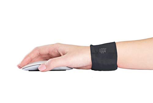 Uppo® Handgelenkstütze für Computer, Laptop. Hält das Handgelenk im gesunden Winkel. Ergonomisch beruhigt Steifheit und Schmerzen. Vermeiden Sie Karpaltunnel, wiederholte Belastung. Höhle schwarz.