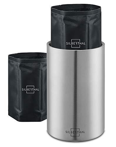 SILBERTHAL Weinkühler Edelstahl Doppelwandig - Aktive Kühlung mit Kühlmanschetten