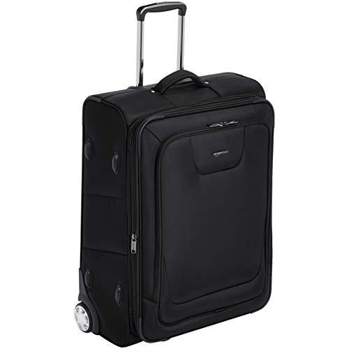 Amazon Basics – Maleta blanda expansible con candado TSA y ruedas, 66 cm, negro
