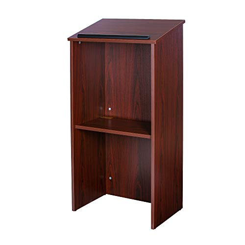 OEF Furnishings Floor Standing Lectern Podium, Mahogany