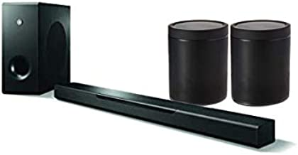 Yamaha MusicCast BAR 400 Sound Bar with Wireless Subwoofer and Two MusicCast 20 Wireless Speaker, Black