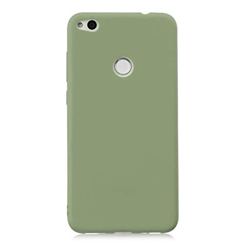 cuzz Funda para Huawei P8 Lite (2017)+{Protector de Pantalla de Vidrio Templado} Carcasa Silicona Suave Gel Rasguño y Resistente Teléfono Móvil Cover-Matcha