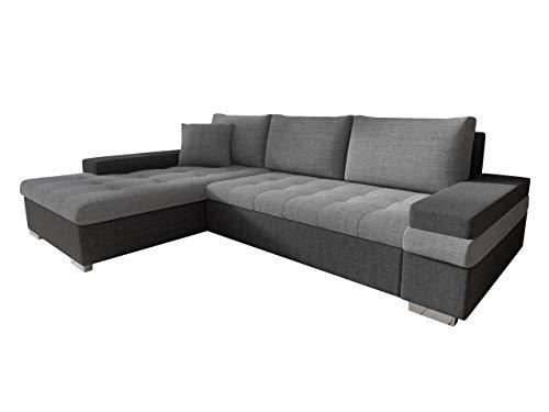 Mirjan24 Design Ecksofa Bangkok Mini, Moderne Eckcouch mit Schlaffunktion und Bettkasten, schwerentflammbar Stoff, Ecksofa für Wohnzimmer, Gästezimmer, Couch L-Form, Wohnlandschaft, (Lux 06 + Lux 05)