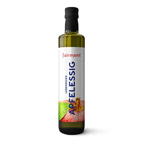 Fairment Apfelessig - bio, naturtrüb, mit der Essig-Mutter, unpasteurisiert, lebendig und ungefiltert - Apple Cider Vinegar aus deutscher Produktion (500 ml (1er Pack))
