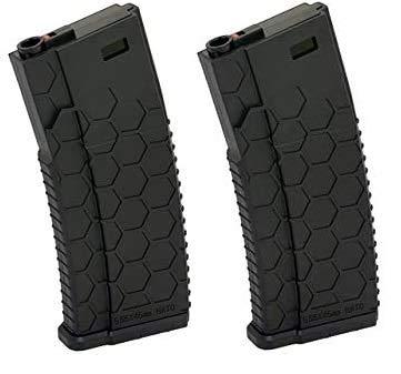 VIKING GEAR 2X Magazine Zweierset - Polymer MID-Cap Magazin für M4 AR-15, schwarz - Vorteilspack/Zweierpack Style 2, Black