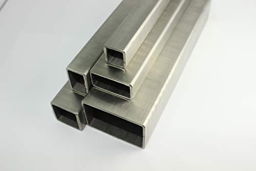 Edelstahl Vierkantrohr Rechteckrohr 80x80x2,0mm Länge=1500mm Geländer Quadratrohr V2A geschliffen Korn 240 Pfosten