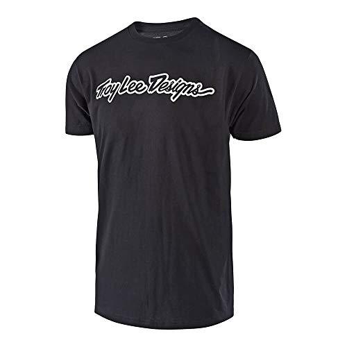 Troy Lee Designs Signature T-Shirt Homme, Noir, FR : L (Taille Fabricant : L)