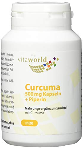 Vita World Curcuma 500mg + Bioperine 120 Vegi Kapseln Apotheken Herstellung