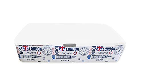 Naturconfort Canapé Abatible Tapizado Apertura Lateral Tapa 3D Blanca Low Cost Londres 80x190cm Envio y Montaje Gratis
