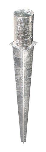 Opklapbare gronddoos voor palen Gronddoos Opklapbare voetpaalhouder Opvouwbare grondpaalpaal anker verzinkt Ø121x900mm