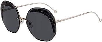 Fendi Glass Grey Geometric Ladies Sunglasses (FF0358SKB7IR63)