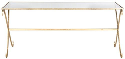 Safavieh EAF2551 Couchtisch, Metall, Gold, 109 x 50 x 46.35 cm